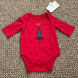 """Gap """"All is Merry and Bright!"""" Holiday Onesie"""